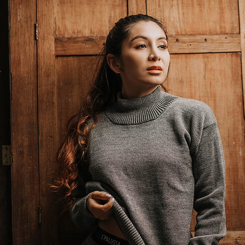 Babá Gray Sweater