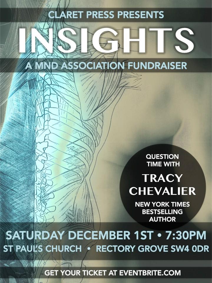 Motor Neurone Disease Association, Tracy Chevalier