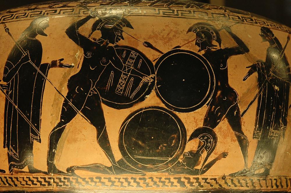 Greek war painting