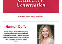 Claret and Conversation podcast with young creative Hannah Duffy