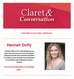 Claret and Conversation with Hannah Duffy