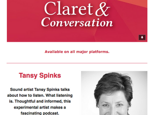 New Podcast: Tansy Spinks discusses sound, listening and creativity.