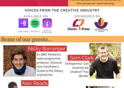 Our exciting new podcast! Claret and Conversation: Voices from the Creative Industry CreatiIndusttry