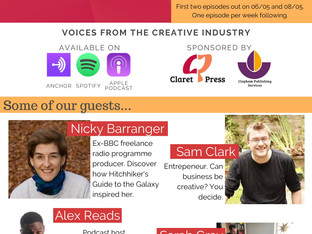 Claret and Conversation: Voices from the Creative Industry. Our new podcast!