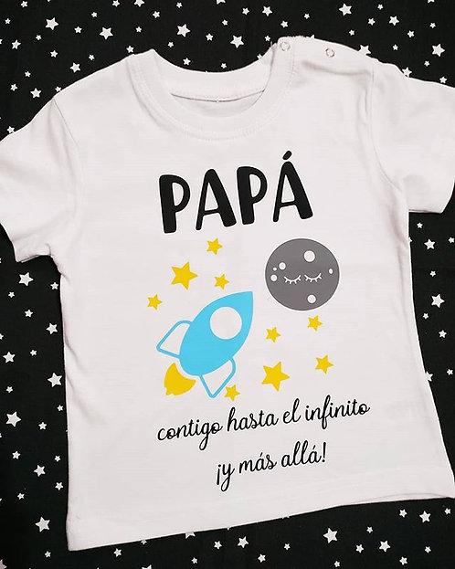 "Camiseta ""PAPÁ HASTA EL INFINITO"""