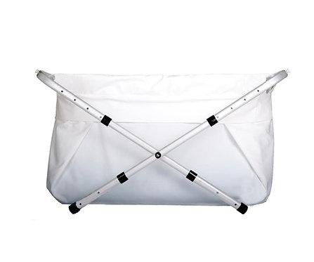 Bañera plegable extensible blanca