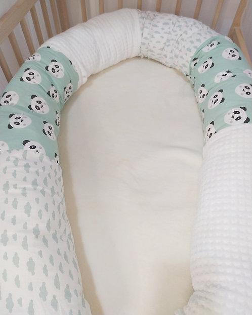 Cojín Rulo Protector Panda Mint (elige tamaño)