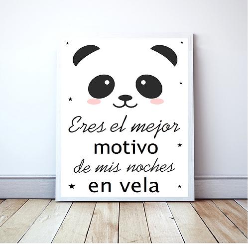 Lámina Panda star (enmarcada)