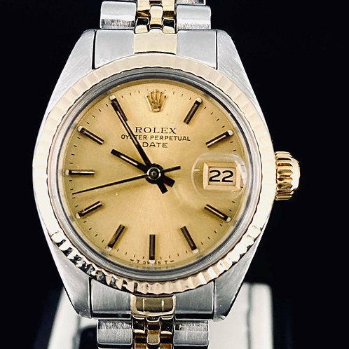 Rolex Lady-Datejust 26MM Gold Dial Yellow Gold/Steel Jubilee 1984