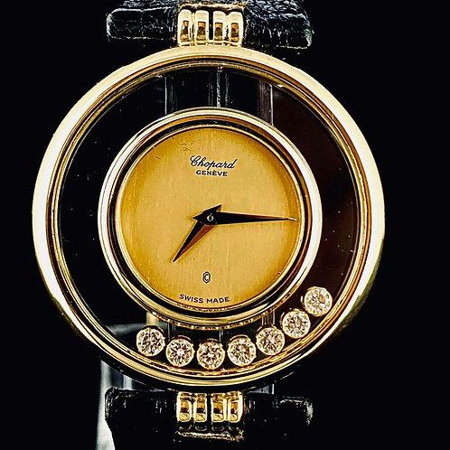 Chopard Happy Diamonds 18K Yellow Gold 7 Diamonds 31mm