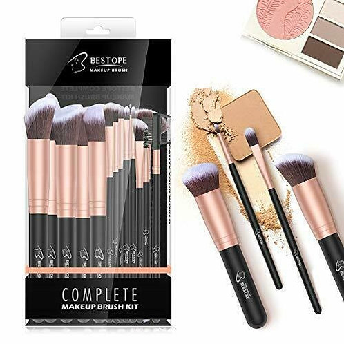 BESTOPE MAKEUP BRUSHES 16 PCS MAKEUP BRUSH SET PREMIUM SYNTHETIC FOUNDATION