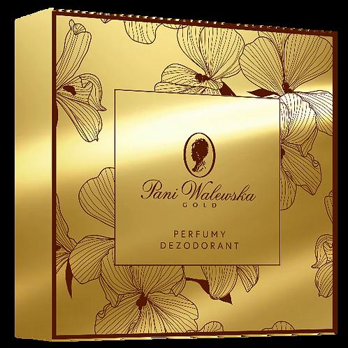 PANI WALEWSKA GOLD GIFT BOX  PARFUME + DEODARANT