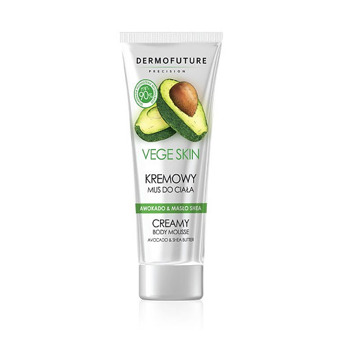 Creamy body mousse with avocado and shea butter 200ml Dermofuture - Vege Skin