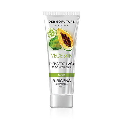 Energizing GEL for washing the body with papaya and lime 200ml - Vege Skin