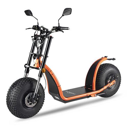 FORÇA KnuMo II VGT 3000W Fatwheel LowRide Scooter mit Doppelmotor Orange Edition