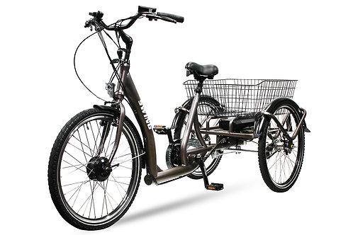 E-GO! Elektrofahrrad 250W Dreirad Swing Comfort Pedelec E-Bike 24 Zoll 3-Gang