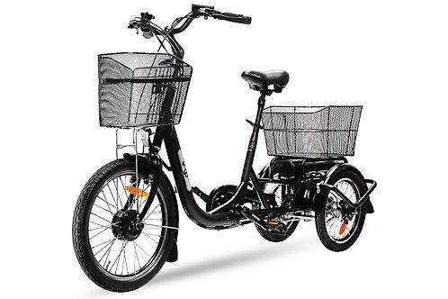 E-GO! Elektrofahrrad 250W Dreirad Swing Compact Pedelec E-Bike 20 Zoll 3-Gang