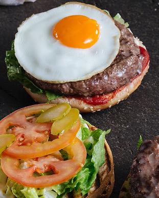 Hamburger with Fried Egg