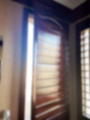 Stain wood shutter made by ALJ