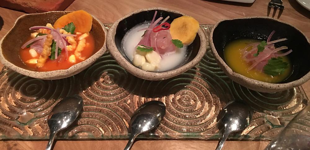 Pratos no nosso roteiro gastronômicos em Lima, Peru.