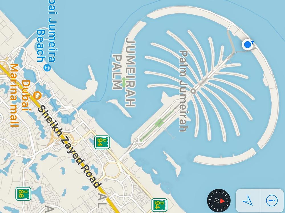 Palmeira Jumeirah,  ilha artificial em Dubai