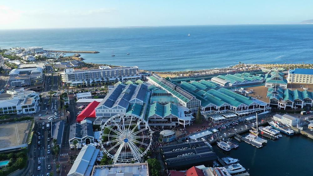Vista de Victoria and Alfred Waterfront  na Cidade do Cabo
