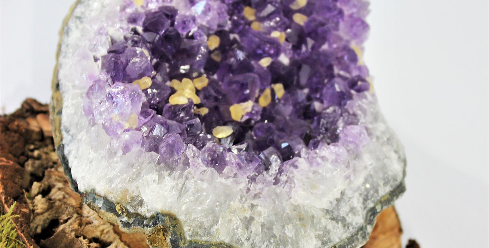 AMETHYST WITH YELLOW CALCITE