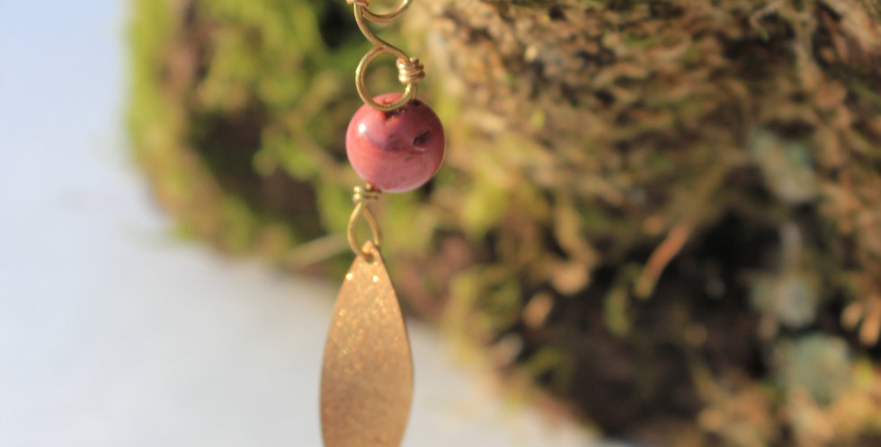 MOOKAITE LEAF NECKLACE