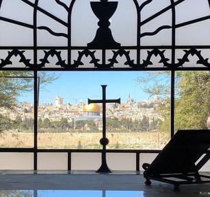 Dominus Flevit Church, the site where Jesus wept over Jerusalem