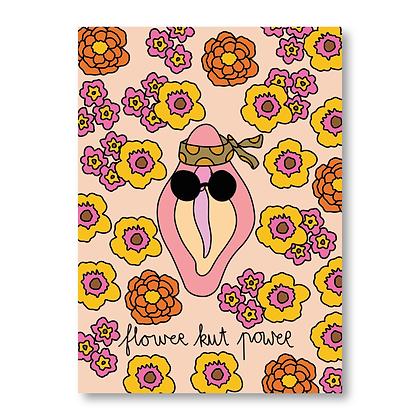Flower Kut Power - A6 Postkaart