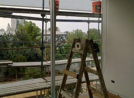 ניקוי אחרי שיפוץ או בניה ולפני אכלוס המבנה