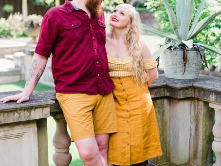 Inn at Irwin Gardens Engagement | Columbus, IN | Haley & Joey