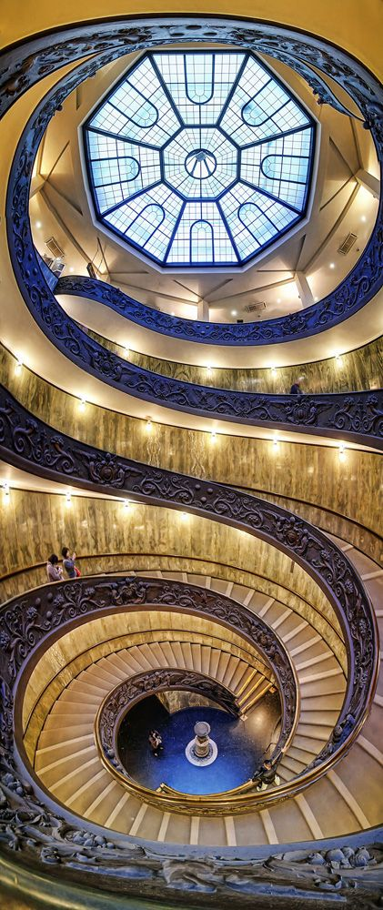 Spiral Staircase at the Vatican Museum