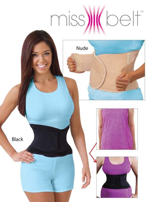 b4aebe159ce The Miss Belt Waist Training Belt will make you look 2 sizes smaller in just  seconds! Miss Belt is adjustable making this shape wear super comfortable.