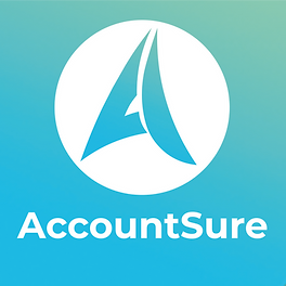 FINAL ACCOUNTSURE WHITE LOGO CIRCLE copy