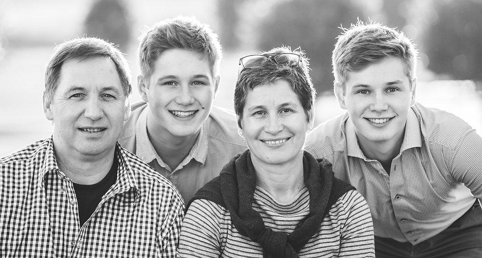 Family photo boys