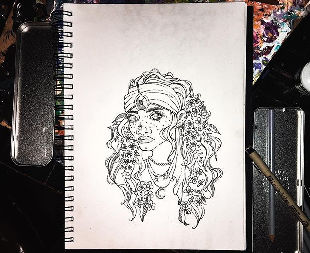 """•Inktober Day Four• """"her messy hair is a"""