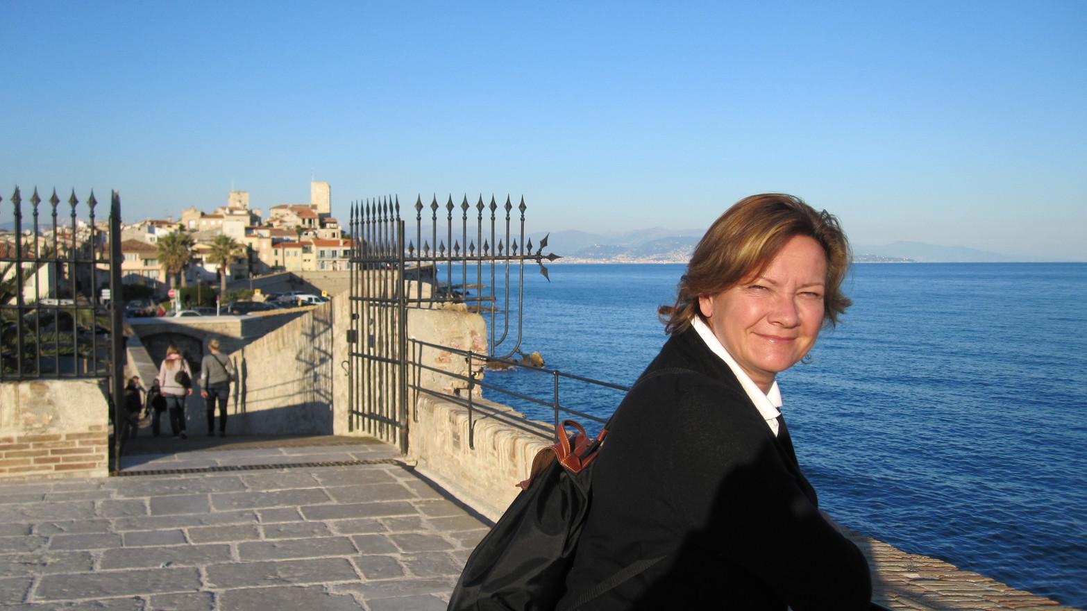 Maria i Antibes. År 2012.