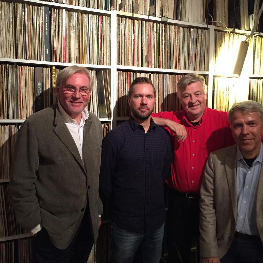 The Classic Jazz Quartet har haft trevlig lunch hos Jesse för att diskutera turnéupplägg.