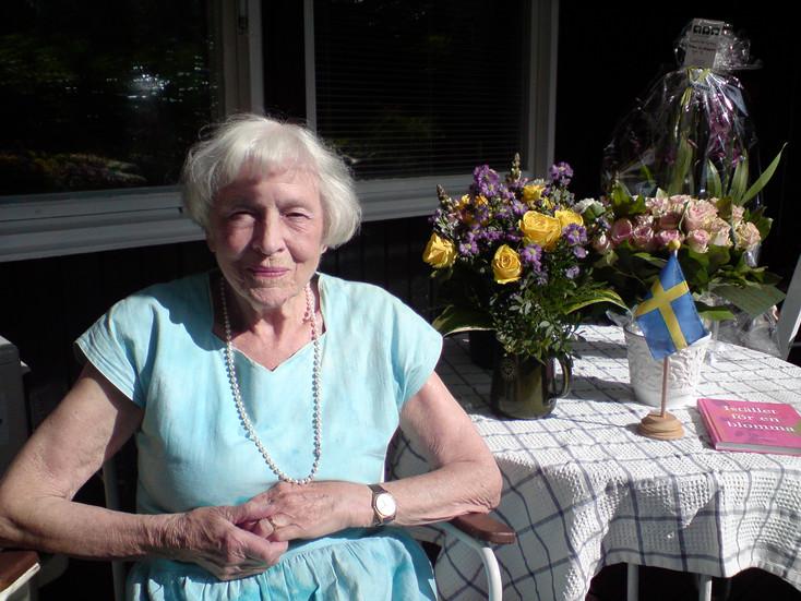 Mor Gunhilds födelsedag den 11 juli 2011.