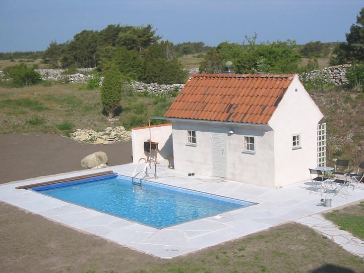Poolen på Nore, Gotland, blev färdig 2006.
