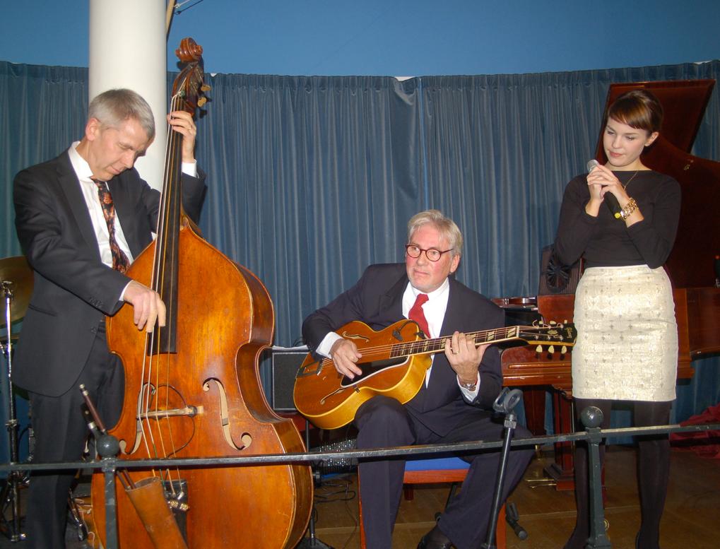 Från en konsert för SWEJS, Göran Holger, Isabella. Jesse, Klas, Duke ej med på bilden.