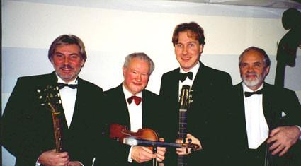 Gunnar Lidberg Hot Quartet, Holger, Gunnar, Micke, Arne.