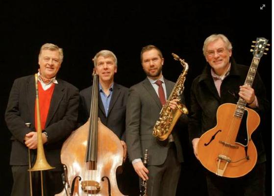 The Classic Jazz Quartet, Jens, Göran, Klas och Holger. En underbar kvartett. Foto: Claes Tillander.