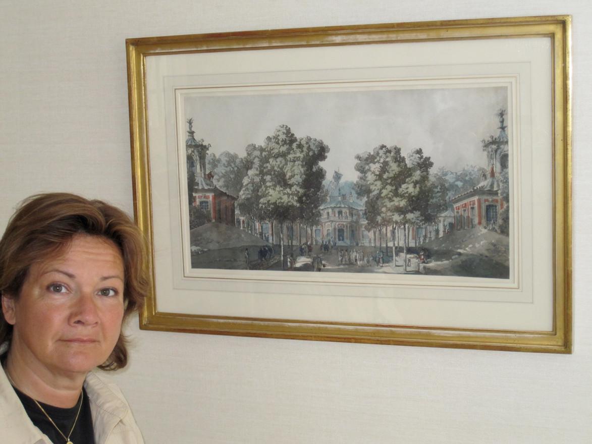 Maria med sin fina målning av Deprés. 2009.