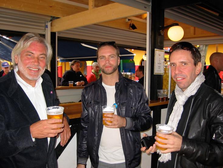 Holger med sönerna Jonas och Jeppe. 2010.