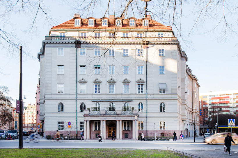Huset i Stockholm där Holger och Maria bor. År 2015.