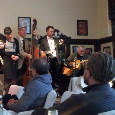 Isabella med The Classic Jazz Quartet på Engelen.