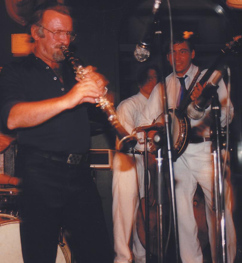 Mr Acker Bilk med Stockholm Classic Jazz Band på Jazzpuben Stampen juli 1989.