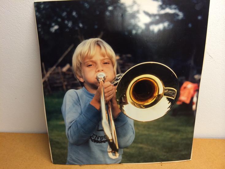 Jonas studentskylt, Bromma Gymnasium 1991.